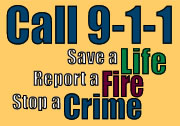 call 9-1-1 - save a life - report a fire - stop a crime