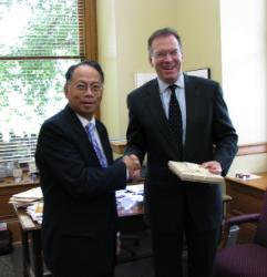 Commissioner Fish with His Excellency Willy Gaa, Philippine Ambassador to the United States