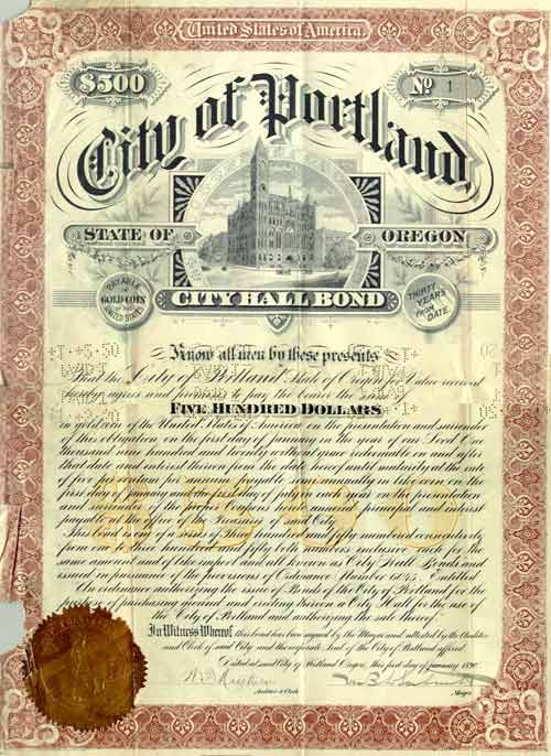 1890 City Hall Bond