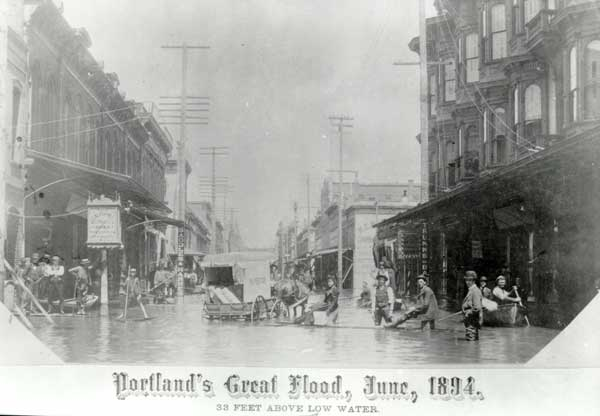 1894 Downtown street in 1894 flood