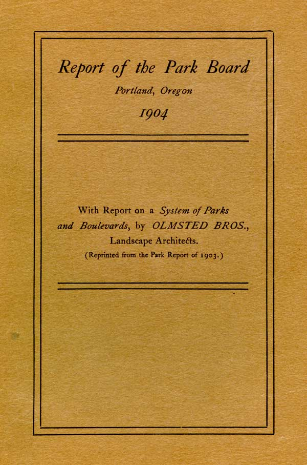 1903 Parks Board report cover