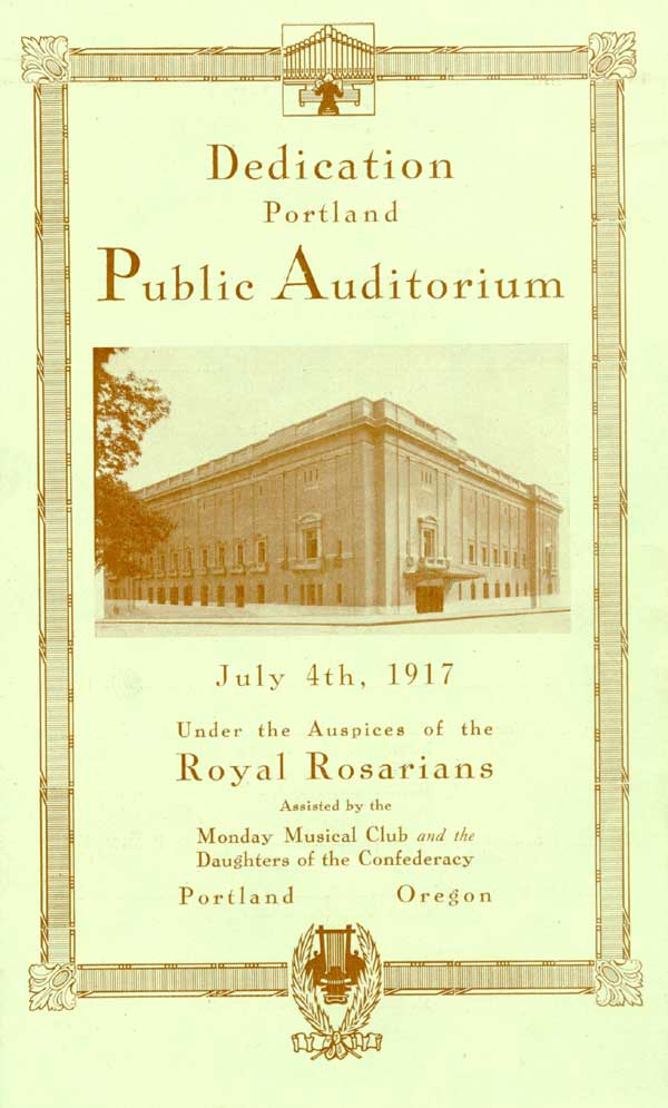 1917 Public Auditorium dedication pamphlet