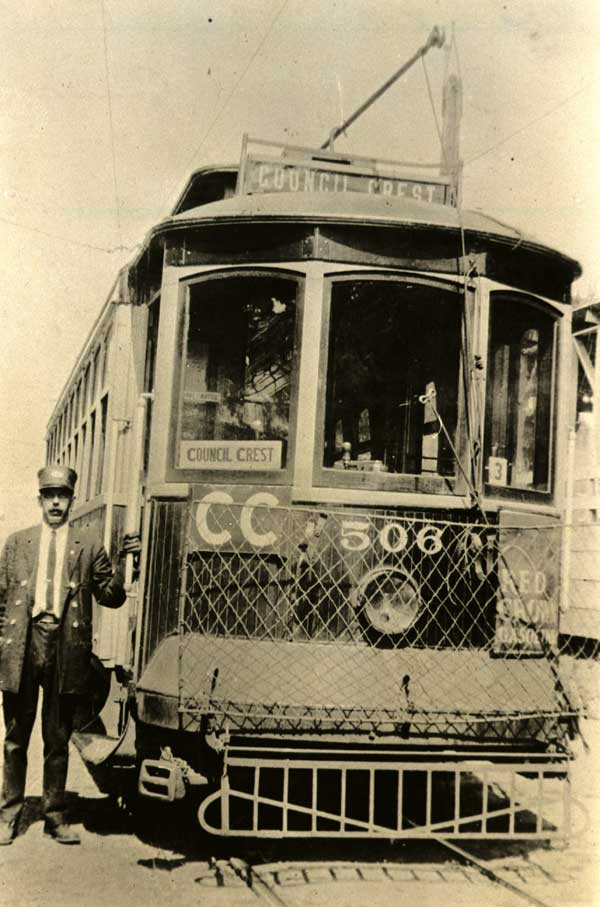 1920 Council Crest Street Car in service