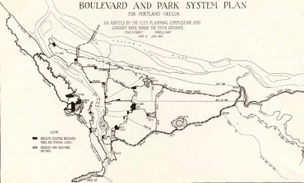 1921 Cheney Plan map
