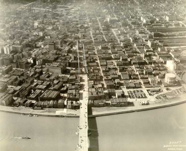 1929 Aerial of completed Harbor Wall