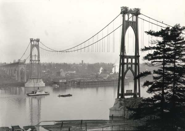 1930 St. Johns Bridge under construction