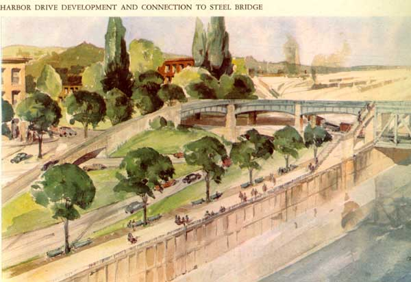 1943 moses Report on Harbor Drive development