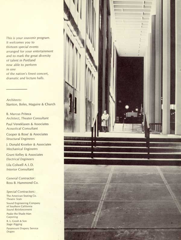 1968 Civic Auditorium souvenir program