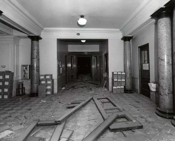 1970 Liberty Bell bombing - City Hall interior
