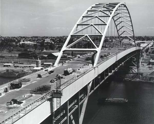 1973 Fremont Bridge construction