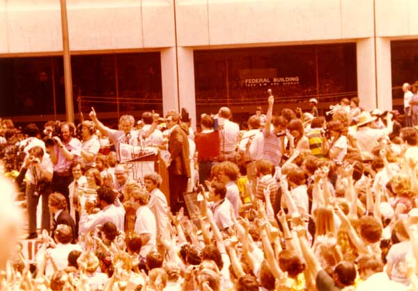 1977 Parade gathering for Blazers