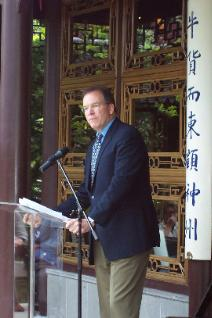 Commissioner Nick Fish was honored to speak at the 10th anniversary celebration for Portland's Classical Chinese Garden.
