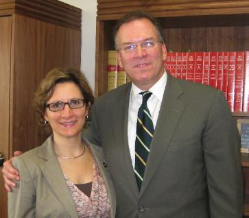 Commissioner Nick Fish with Oregon State Senator Suzanne Bonamici