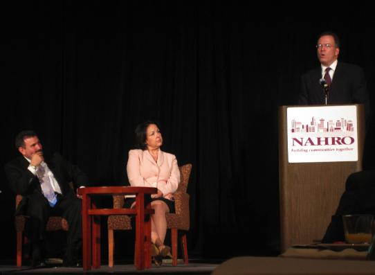 Commissioner Fish at the NAHRO conference in Portland, Oregon, July 16, 2009.