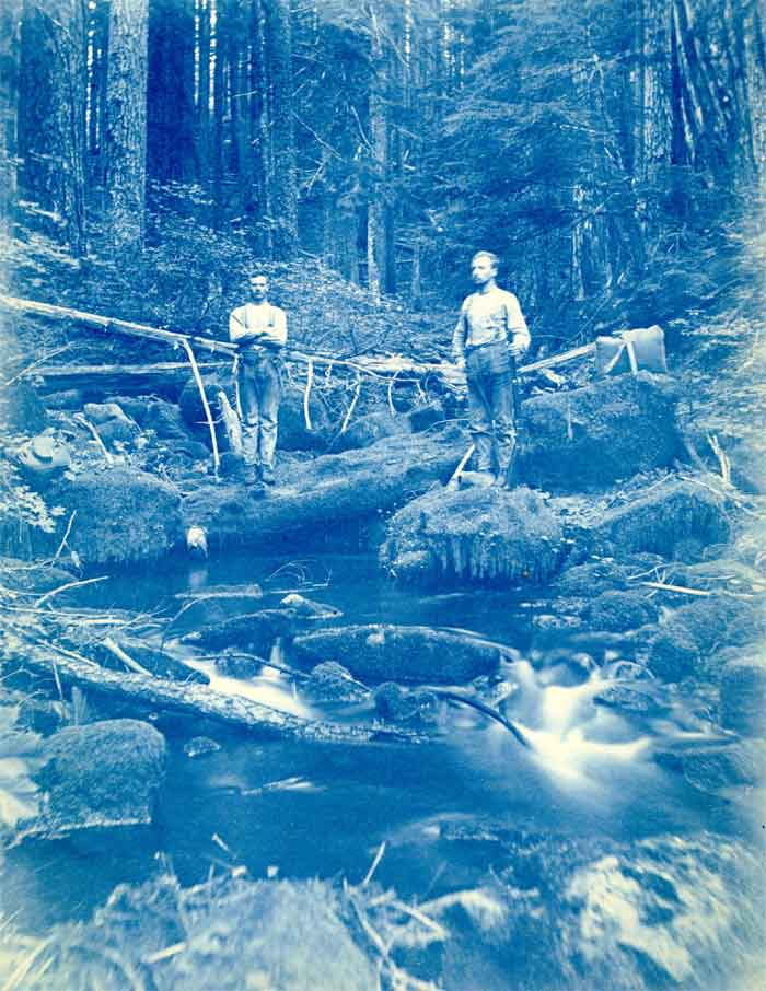 1891 Cyanotype of Bull Run exploration