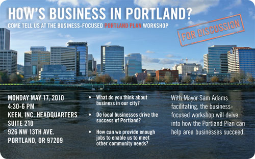 Business Workshop Postcard front