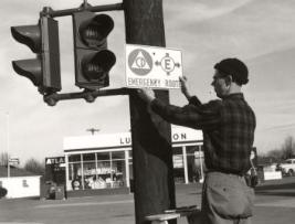 1954 Civil Defense Sign Posting