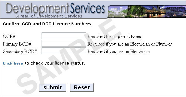 For contractors, your valid license numbers will be required to purchase the permits you need. Without your license numbers, your permit choices will be limited to those of non-licensed individuals.