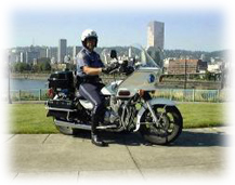 Officer Robert Dixon on Motorcycle