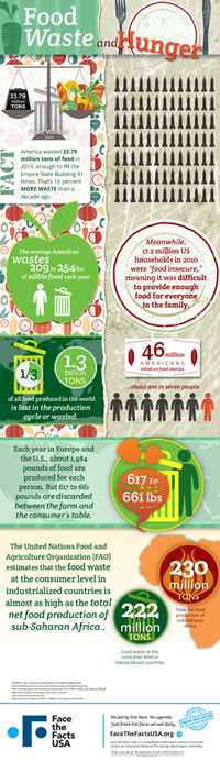 Face the Facts infographic about food waste
