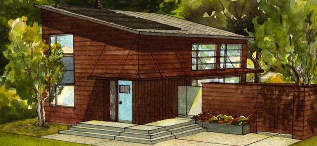 Artist rendering of a passive house