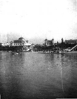 1905  Lewis & Clark Exposition Lake and Buildings